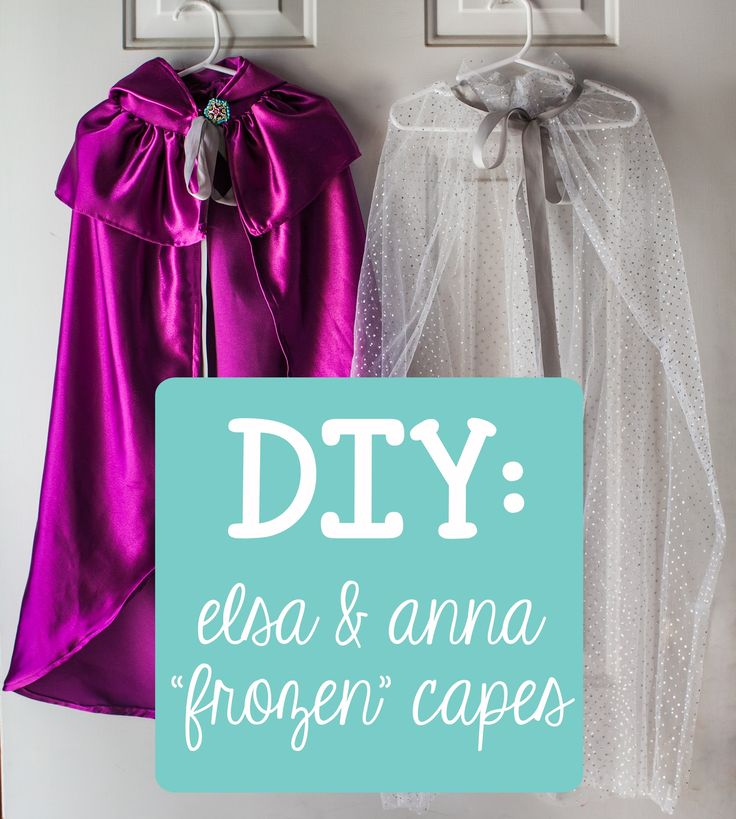 "You Are My Licorice: DIY : Elsa & Anna Costume Capes from ""Frozen"""