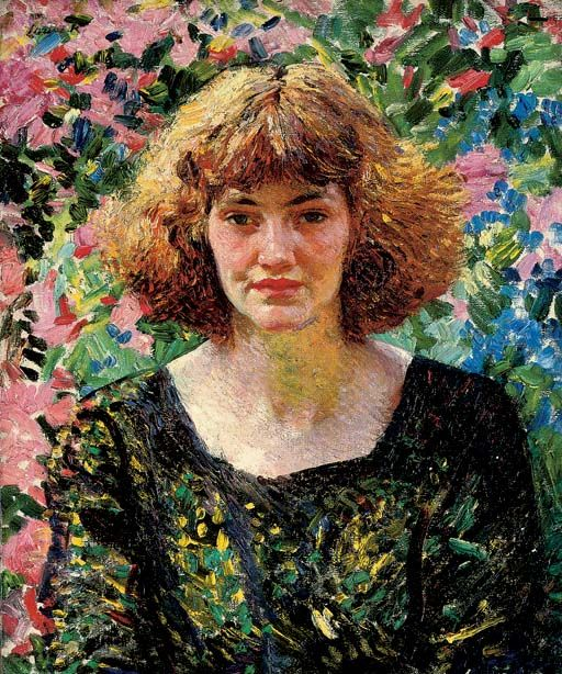 Rose and Gold, Dame Laura Knight. English Impressionist Pinter (1877 - 1970)