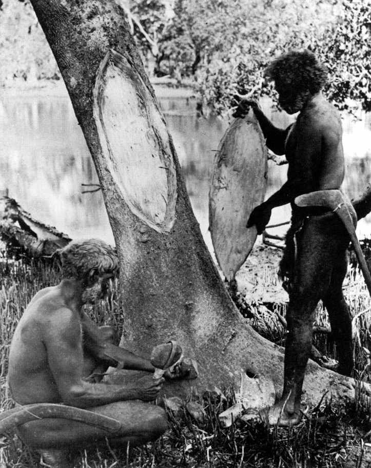 Australian Aborigines | Australian Aborigines sharpening and hafting stone axes. Some sites ...