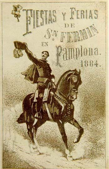Cartel Sanfermines 1884 #Advertising #Vintage