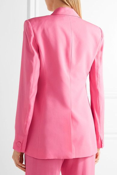 Rachel Zoe - Aero Silk Crepe De Chine Blazer - Pink