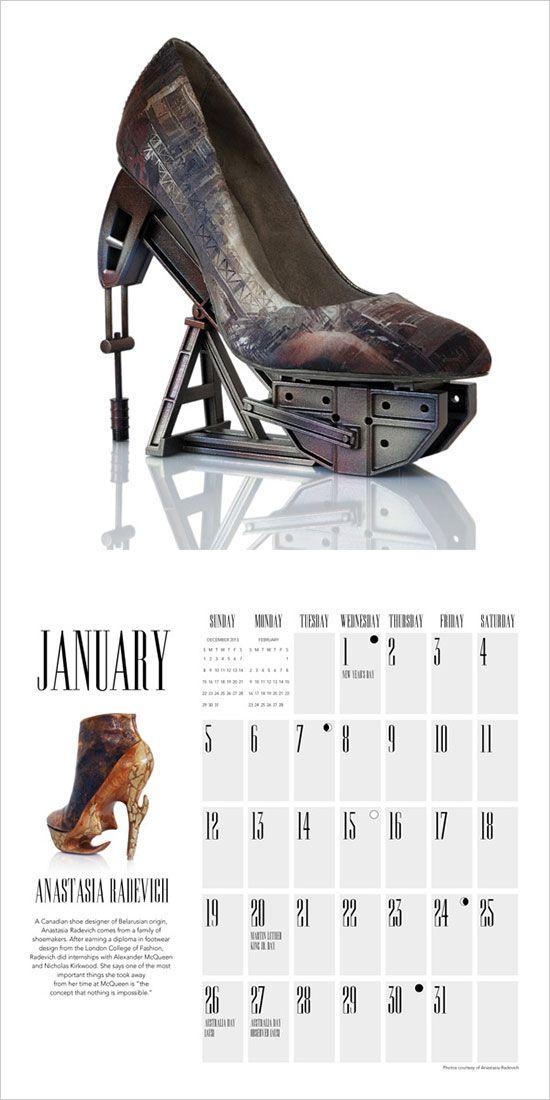 25 New Year 2014 Wall & Desk Calendar Designs For Inspiration