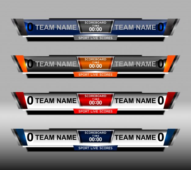 Scoreboard Sport Template For Football And Soccer バナー