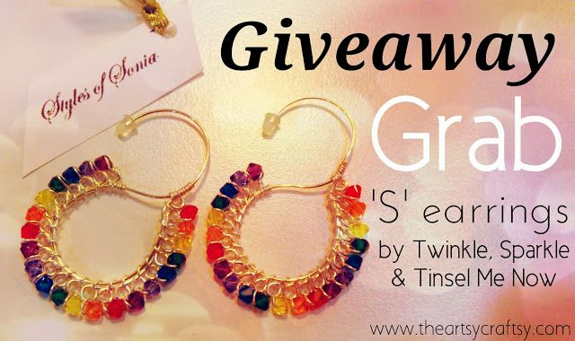 Fashion Giveaway! X'mas came early this year on www.theartsycraftsy.com. Super easy giveaway challenge just to win this beautiful Rainbow S earrings!