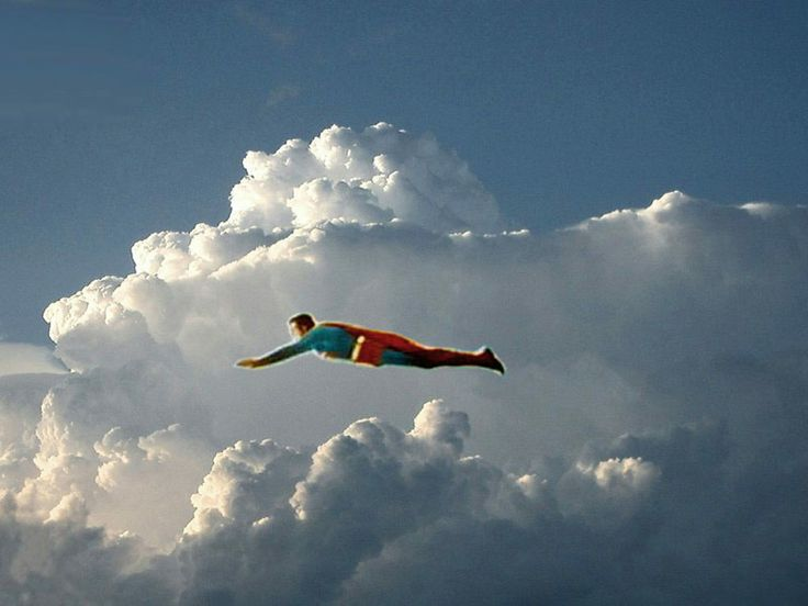 Look! Up in the sky! It's Superman flying in the opening credits of the color seasons of the Adventures of Superman TV show.