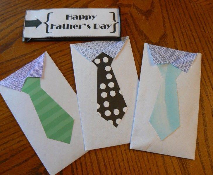 Fars dag pyssel bag papperspyssel kuvert present inspiration tips ide slips