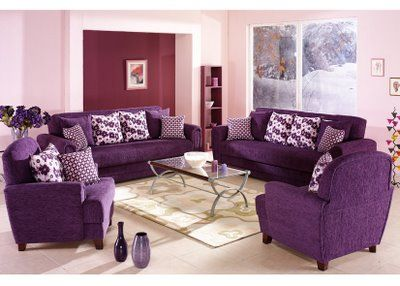 Photo Gallery Of Modern Luxury Living Rooms Decorations With International  Purple Furniture, Modern Luxury Purple Sofas And Purple Chairs Living Room  ...