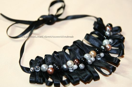 Colier 50 shades of black, by colierehandmade, 25 Lei