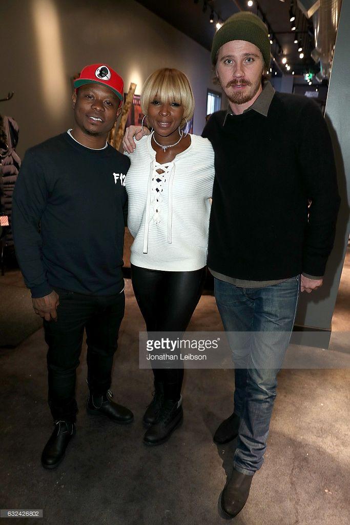 Jason Mitchell, Mary J. Blige and Garrett Hedlund attend the Creators League Studio at 2017 Sundance Film Festival - Day 4 on January 22, 2017 in Park City, Utah.