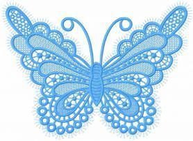 Butterfly lace free embroidery design. Machine embroidery design. www.embroideres.com