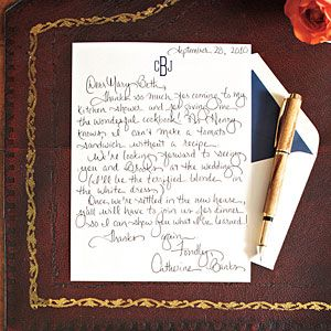 How To Write a Charming Thank-You Note via Southern Living. What a lost art.