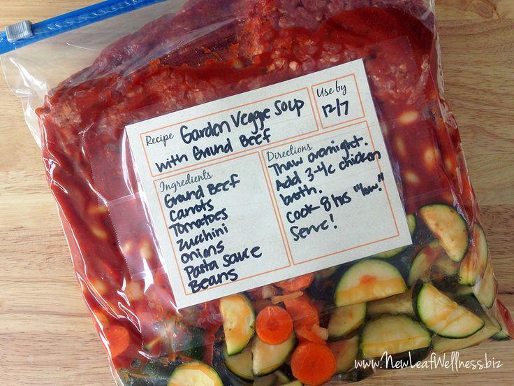 Eight Healthy Freezer Crockpot Meals In 75 Minutes New Leaf Wellness Crockpot Vegetable Souphealthy