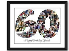 60th birthday photo collage