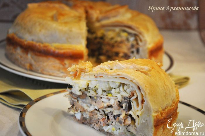 Курник - блинный пирог по-старорусски   Кулинарные рецепты от «Едим дома!»