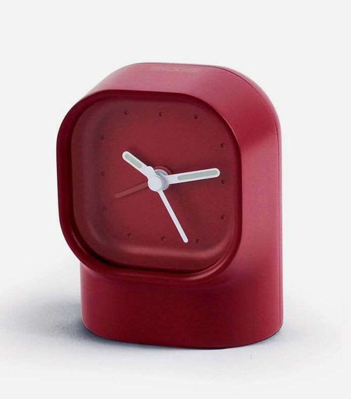 Mezzo Clock - Analog Alarm Clock by Lexon. As a nocturnal companion, the Lexon Mezzo Clock with softened forms take care of your sleep from your bedroom. In case of insomnia, its luminous analog hands will tell you the time in the dark. When the morning comes, you can switch on the popular snooze option just by a simple caress over the clock's snooze sensor. http://www.zocko.com/z/JG0i5