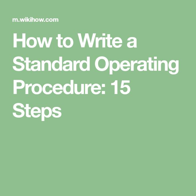 The 25+ best Standard operating procedure ideas on Pinterest - it manual template