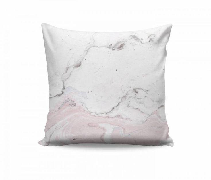 Almofada Abstrata Textura Mármore Rosa