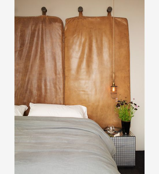 Ashe Leandro Leather Cushion Wall Hanging For