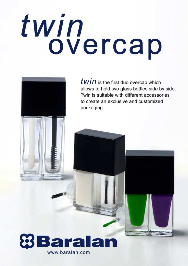 The first duo overcap to hold two glass bottles side by side #nailpolish #packaging #glassbottles