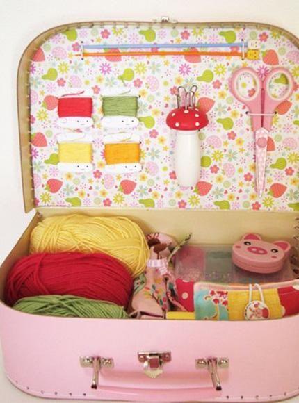10 maletas de costura