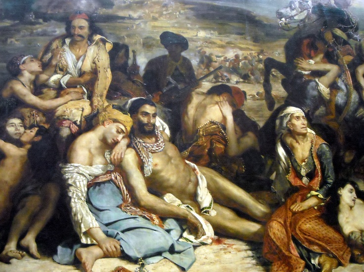 The masacre at Chios by Delacroix, The Louvre