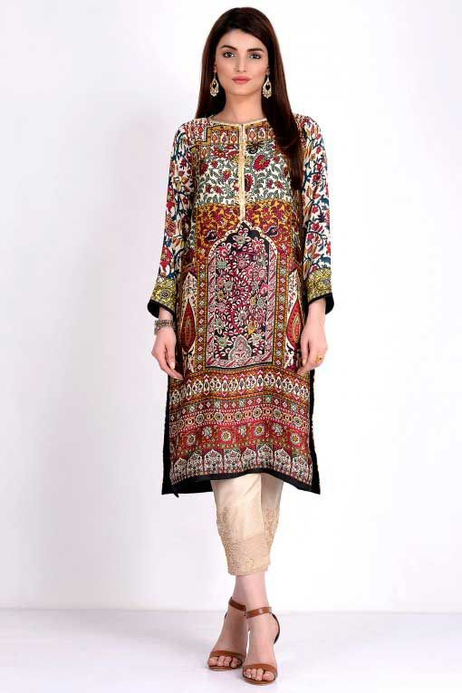 Latest Pakistani Winter Tops And Shirts 2016 For Girls