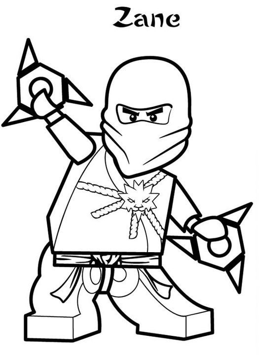 Zane Ninjago Lego Coloring Page   Ninjago ausmalbilder ...