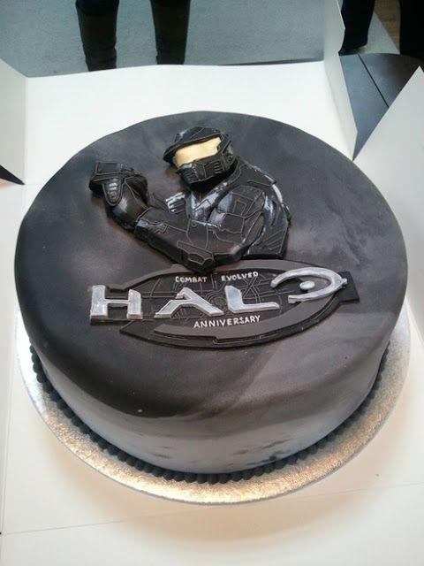 Halo Birthday Party Cake