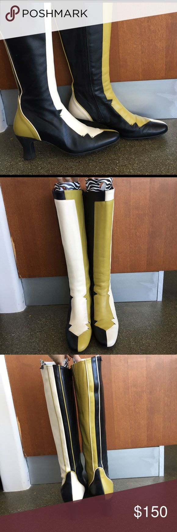 Selling this Mod Camper Go-Go Boots Two Toned Funky on Poshmark! My username is: dollpower. #shopmycloset #poshmark #fashion #shopping #style #forsale #Camper #Shoes
