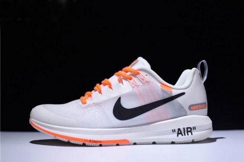 537ed2d5047d9 Authentic Mens Off-White Virgil Abloh x Nike Air Zoom Structure 21 White  Orange-Black 907324-006 For Sale - ishoesdesign