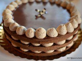 Tort Cappuccino cu crema de mascarpone si lichior de cafea