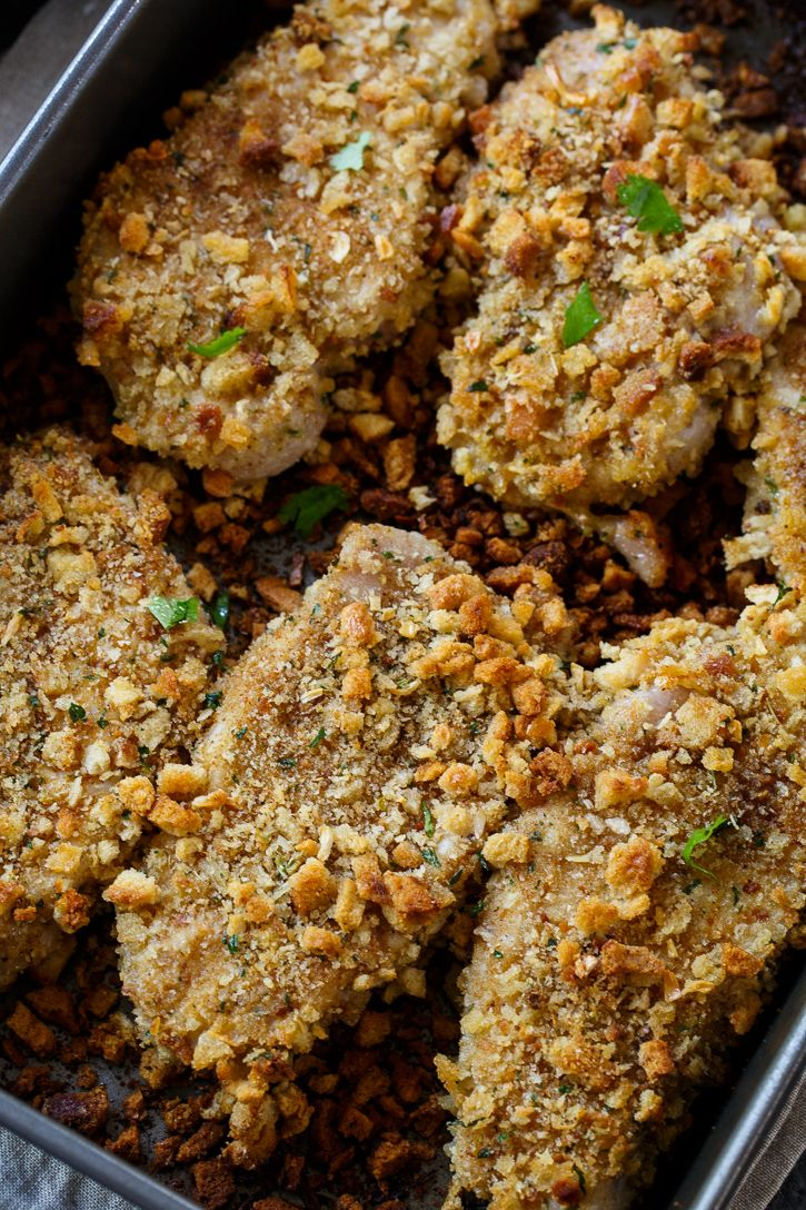 Stuffing Coated Pork Chops - very good and super easy to make!