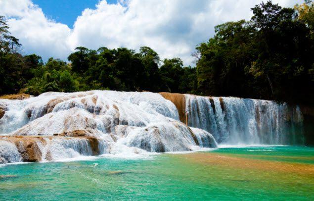 cascada de Agua Azul Chiapas Mex.