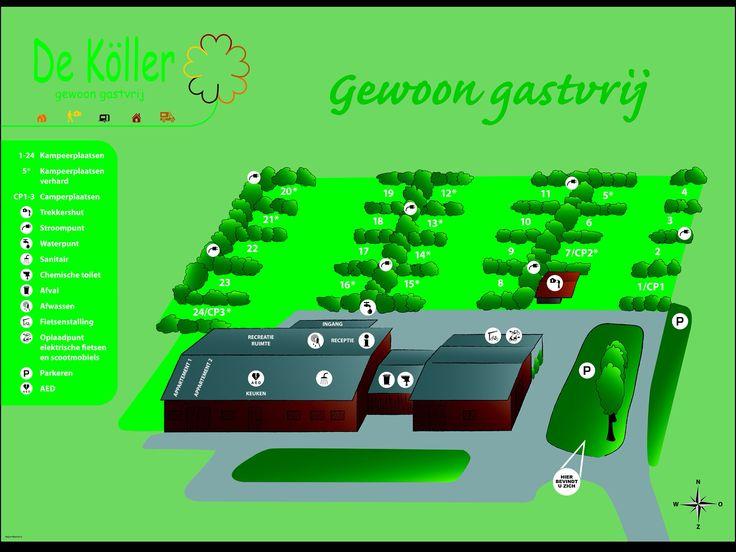 Eerste pin van de Köller: minicamping, luxe appartementen en trekkershut. Welkom in Hertme, de Groene Poort, midden in Twente