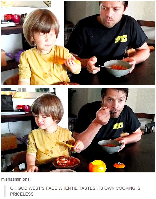 OH GOD WEST'S FACE WHEN HE TASTES HIS OWN COOKING IS PRICELESS. Cooking Fast and Fresh with West=PERFECTION