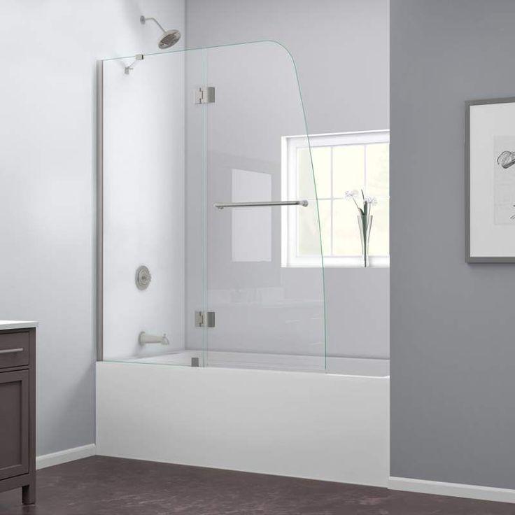 dreamline aqua w x h frameless bathtub door at loweu0027s the aqua uno tub door from dreamline blends a fresh look with a frameless design for