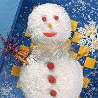 Новогодние десерты. Торт Снеговик