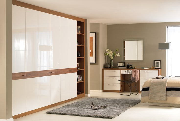 Horizon White Walnut Bedroom Furniture Wardrobes
