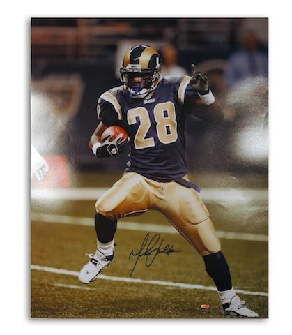 Autographed Marshall Faulk St. Louis Rams 16x20 Photo