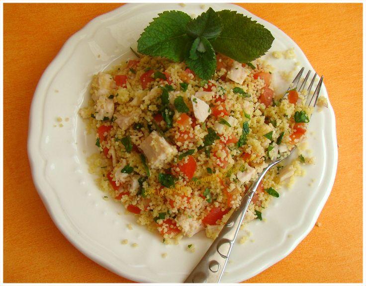 """TABOULÉ LIBANAIS AU POULET ,"""" Weight Watchers """" :Ce plat est très savoureux,parfumé,rafraichissant,riche en protéines végétales,vitamines et sels minéraux"""