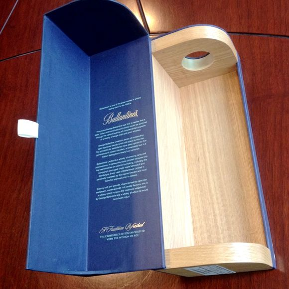 paper wine gift boxes with MDF, wood wine box with paper, luxury wine gift box