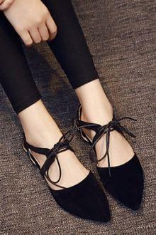 Lace-Up Flat