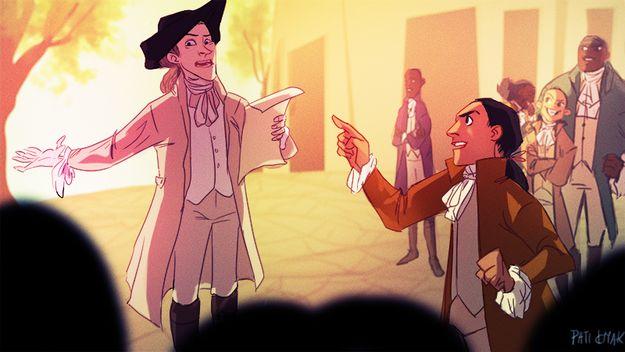 "Amazing.   Someone Drew ""Hamilton"" As A Disney Movie And It's Amazing"