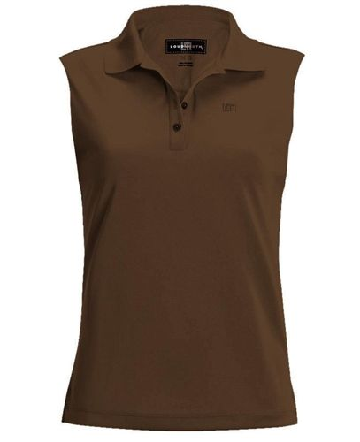 Womens Golfing Shirts By Loudmouth Golf Essential Brown
