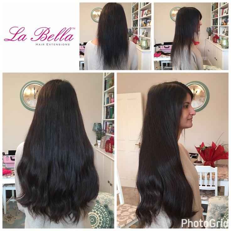"Full head mix of 20"" European La Bella Hair extensions £530 💕 our dark hair will last 12/18 months 🙋🏽 Visit us at www.labellahair.co.uk #nanorings #hairextensionsmaidstone #hairextensionskent #hairextensionsguilford #hairextensionsnottingham #hairextensionslondon #hairextensionsBromley #hairextensionsBeckenham #hairextensionsessex #hairextensionssurrey #hairextensions #hair #hairblog"