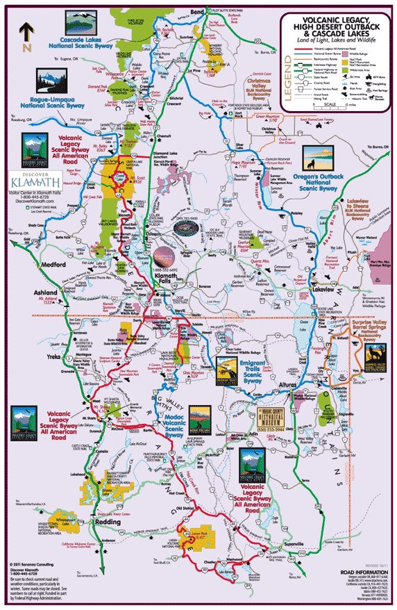 Maps for - Klamath - Lake - Modoc - Siskiyou - The Best in Western Outdoor Recreation