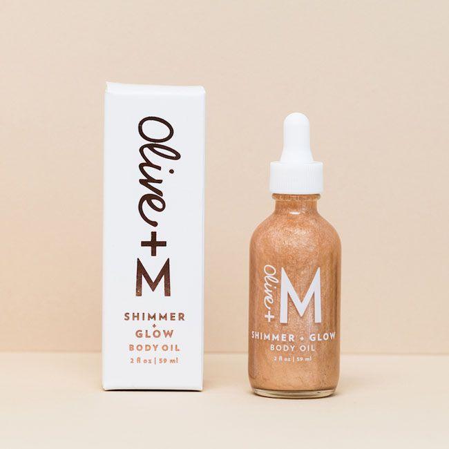 Olive M Olive Oil Skincare Company Shimmer Oil Body Oil Olive Oil Skin Care