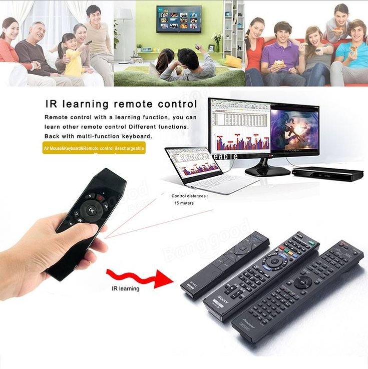 T5 2.4G Wireless Air Mouse Keyboard Remote Controll With IR Learning Function For PC Projector Smart TV