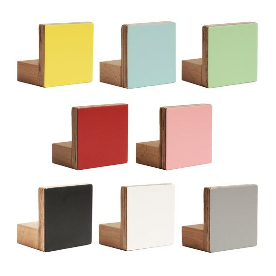 PRICE PER UNIT AND COLOUR    Add a splash of colour with chocolate creative's NEW wooden square knobs. Revamp a chest of drawers and add a