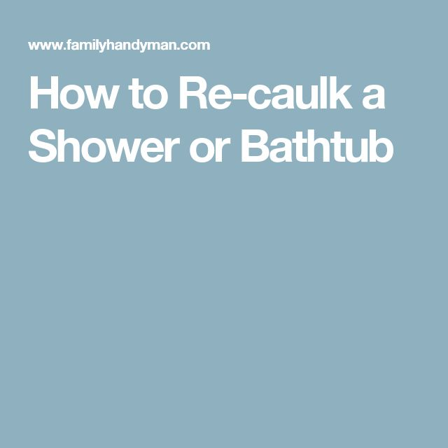 How To Caulk A Bathroom Beauteous Design Decoration